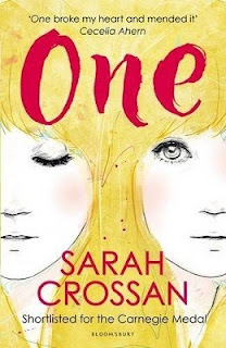 Carnegie Medal winner 2017, One, by Sarah Crossan.