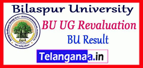 Bilaspur University PG UG Revaluation Part 1st 2nd 3rd Result