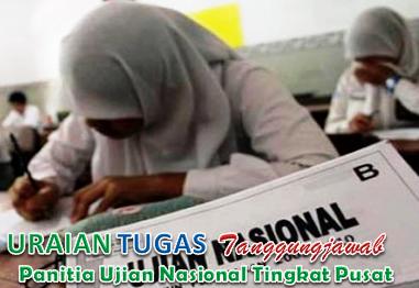 Tugas Panitia Ujian Nasional Tingkat Pusat
