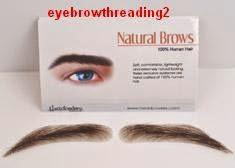 fake eyebrows - they look like real hair