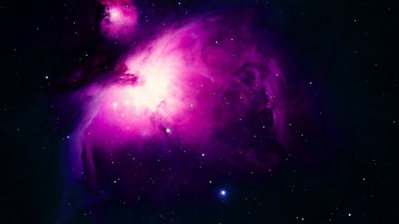 Download Purple Space Storm Wallpaper