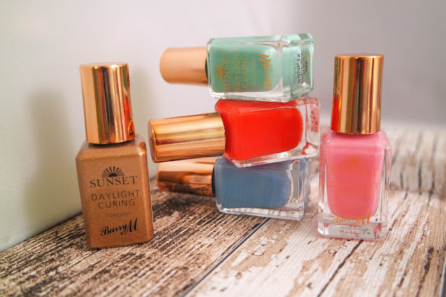 Barry M Spring '16 Lucy Mecklenburgh Sunset Daylight Curing Nail Paint and Topcoat