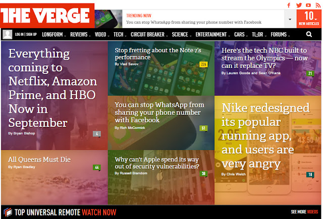 tech news websites, 10 best tech news websites