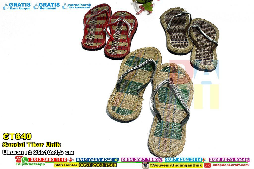 Sandal Tikar Unik | Souvenir Pernikahan