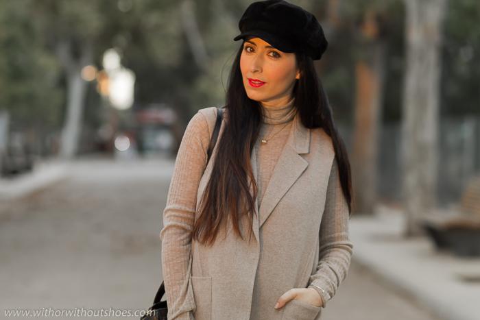 Outfit de blogger de moda valenciana con gorra Baker Boy