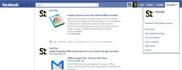 Floating Facebook Navigation Bar