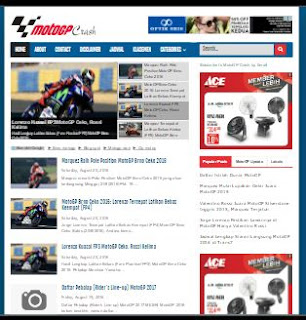 MotoGP Crash - Template SEO Friendly