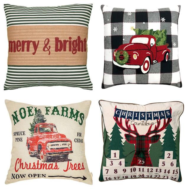 Christmas Truck Pillows