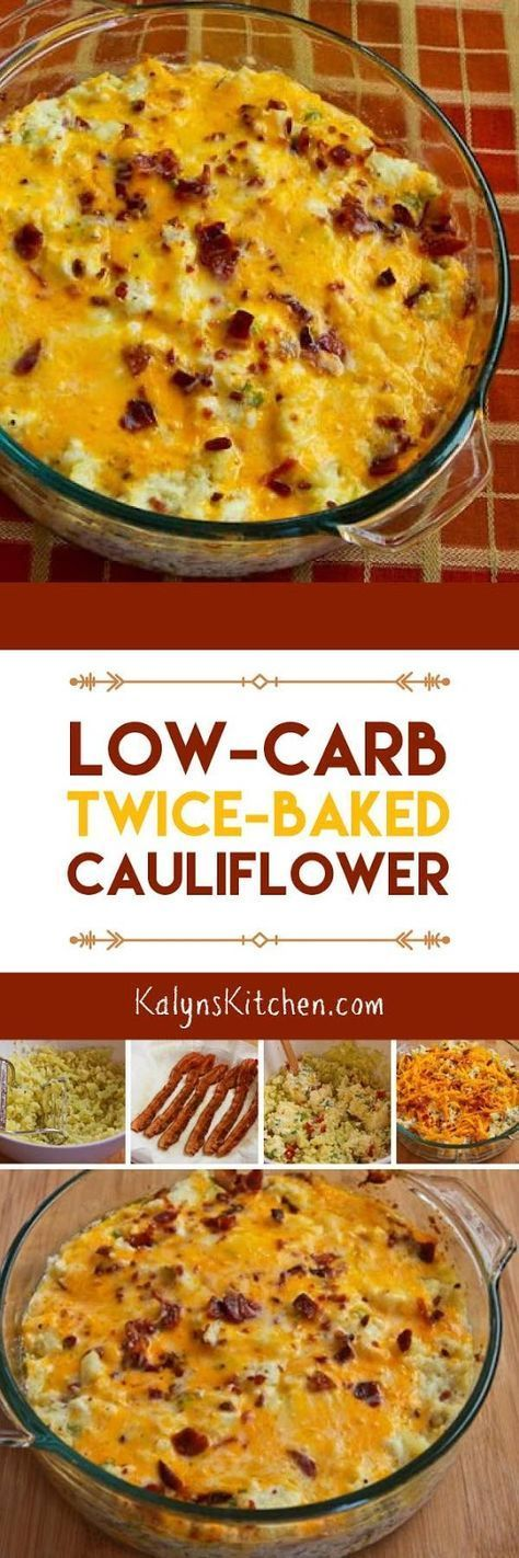 LOW-CARB TWICE BAKED CAULIFLOWER