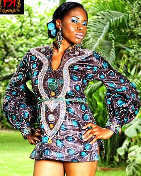 Lace and Ankara Nigerian Fashion