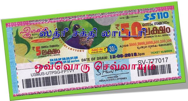 Sthree Sakthi lottery on all Tuesdays Kerala lottery result Sthree Sakthi கேரள லாட்டரி ஸ்த்ரீ சக்தி  ஒவ்வொரு செவ்வாய்கிழமைகளிலும்