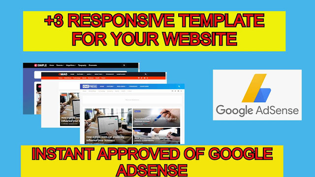 +3 Responsive template for your website to get instant approved of Google AdSense