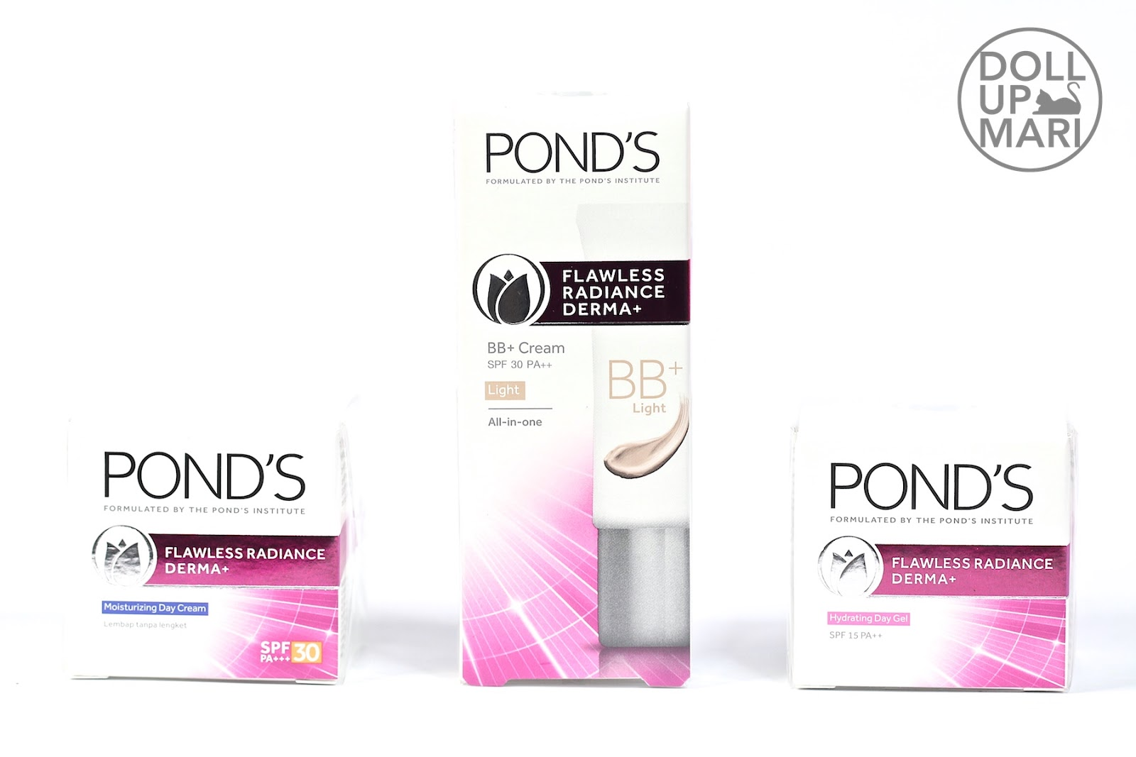 Ponds Flawless Radiance Derma Now At Sample Room Doll Up Mari Daily Moist 50g Range In Boxes