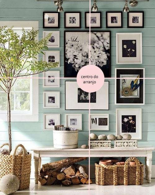Como pendurar quadros ou fazer arranjos de parede lindamente. Blog Achados de Decoração