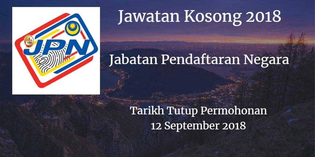 Jawatan Kosong JPN 12 September 2018