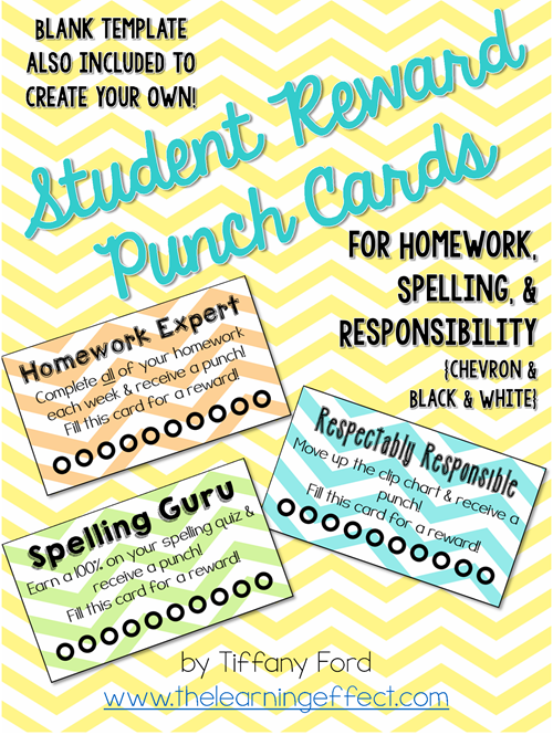 http://www.teacherspayteachers.com/Product/Student-Reward-Punch-Cards-1310302