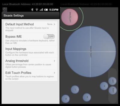 Aplikasi yang memungkinkan integrasi antara android dengan stik PS 3
