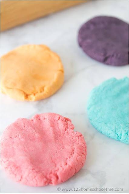 easy to make homemade playdough recipe