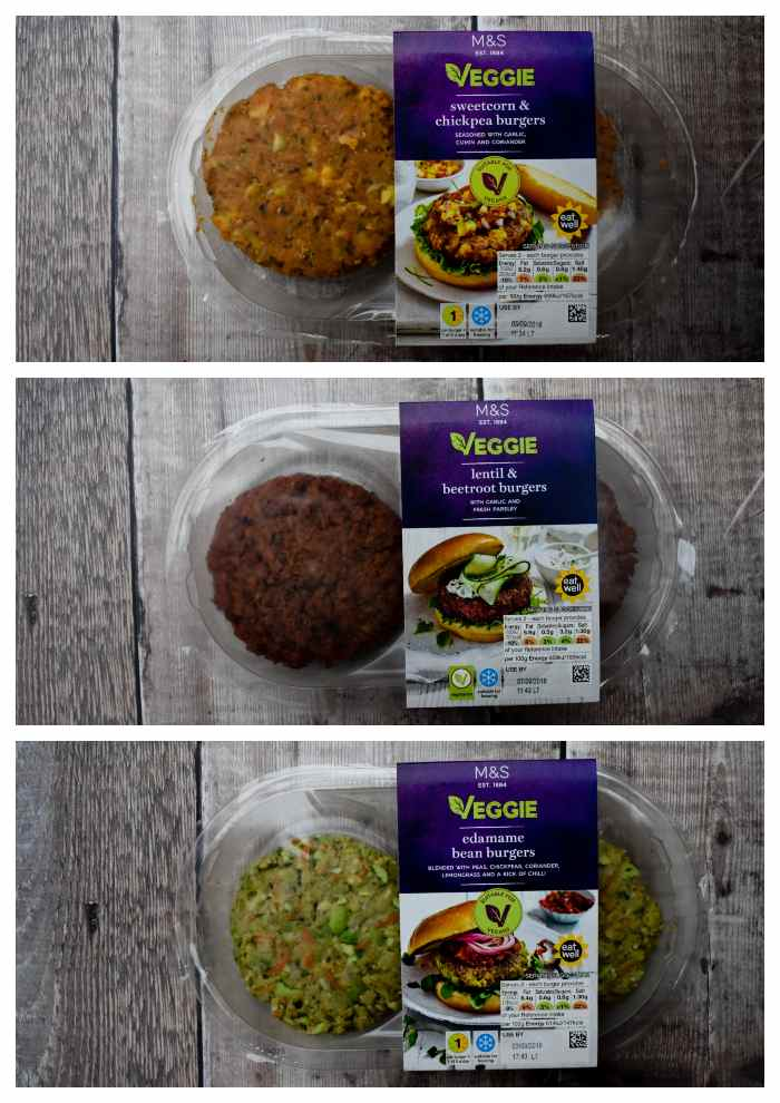 3 Vegetarian and vegan burgers from M&S