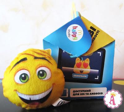 Серия мягких игрушек Эмоджи Муви в МакДональдсе