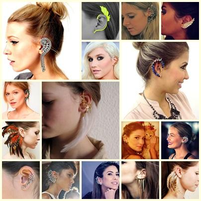 modelos de ear cuff; ear cuff; moda do ear cuff