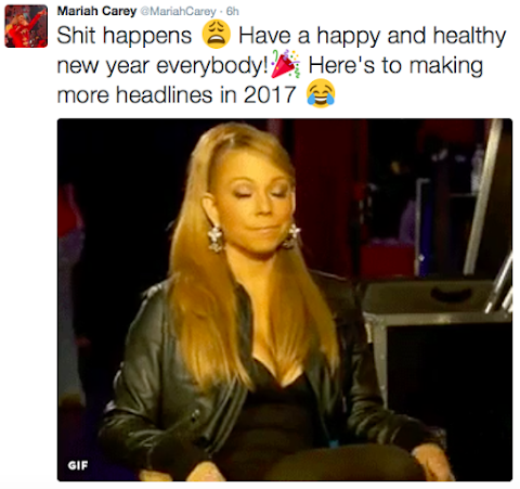 mariah carey, disastro playback a capodanno: video