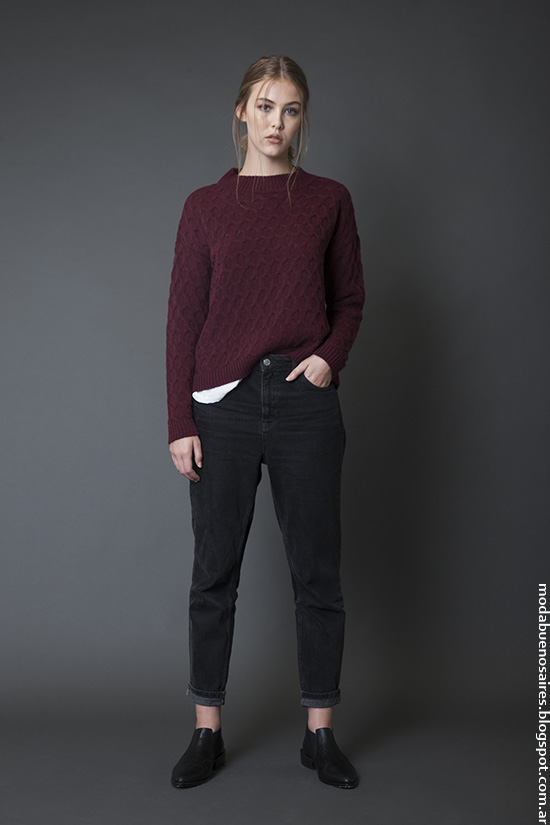 Ropa de mujer invierno 2016 Bled colección. Sweaters, tapados, camperas, vestidos y pantalones oxford invierno 2016. Moda 2016.