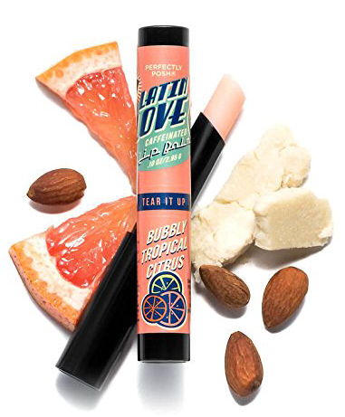 Caffeinated lip balm make a great inexpensive stocking stuffer for adults