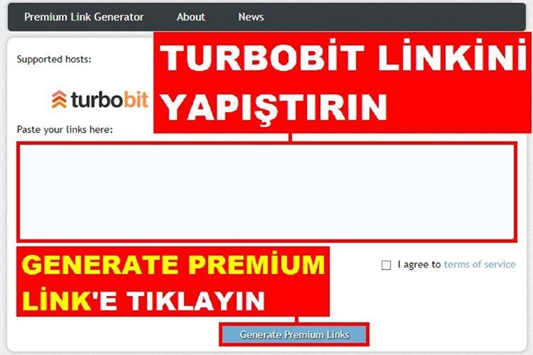 Turbobit Link Generator