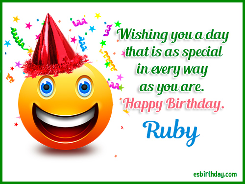 happy birthday ruby Happy Birthday Ruby   Happy Birthday images for Name happy birthday ruby