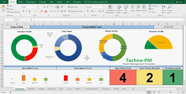 project tracking template, Excel Project Management