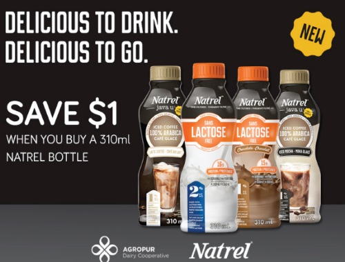 Natrel Milk Bottle Coupon