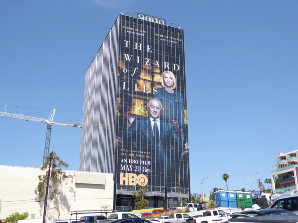 Wizard of Lies giant film billboard