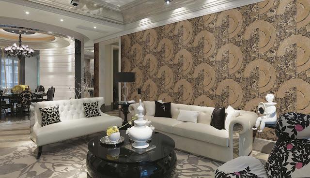 Vị trí trang trí giấy dán tường phòng khách