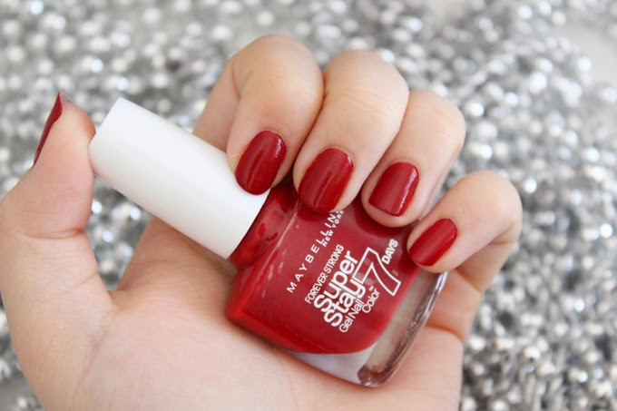 "Maybelline Super Stay ""Deep Red"" 