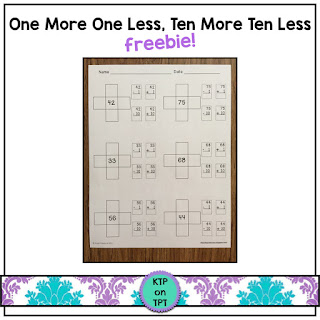 https://www.teacherspayteachers.com/Product/One-More-One-Less-and-Ten-More-Ten-Less-number-sense-freebie-1213381?aref=cbt4ytt7