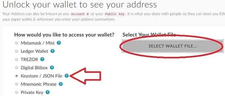 wallet monedero My Ether Wallet configurar CVC