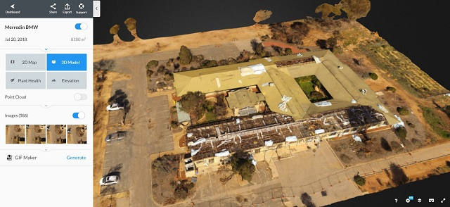 Merredin drone inspection storm damage assessment using Drone Deploy