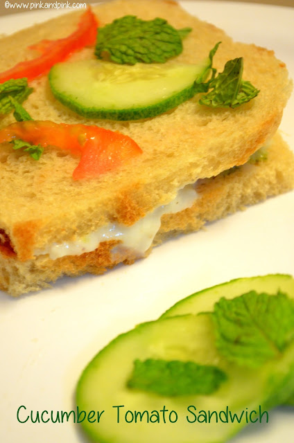 Cucumber Tomato Sandwich Recipe - How to make Fresh and Creamy Sandwich Recipe