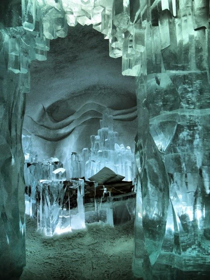 Hotel od leda, Švedska