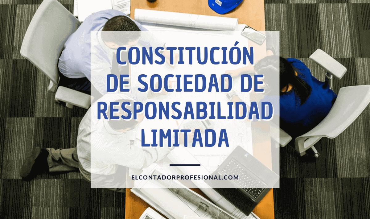 constitucion srl Sociedad de Responsabilidad Limitada