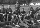 Photograph of The London Scottish North Mimms Rifle Camp Unposted postcard with handwritten date of 28 August 1915 on reverse  published by W.H. Christmas & Co, Photographer, 8 Queens Rd, Bowes Park