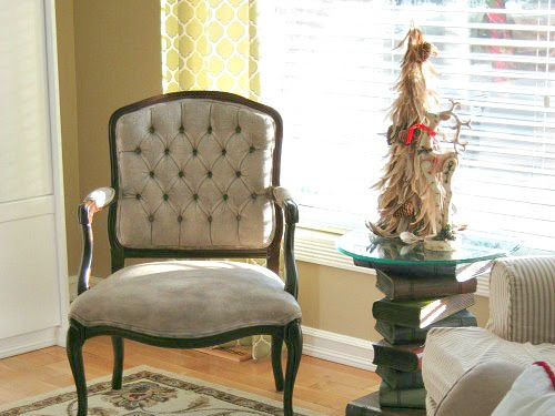 Painting Upholstery With Chalk Paint  - A Tufted Chair Makeover