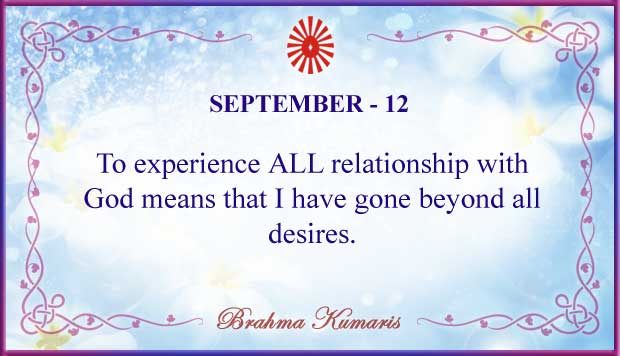 Thought For The Day September 12