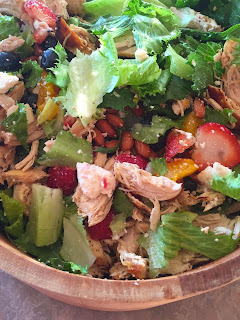 Strawberry Blueberry Chicken Salad with Orange Vinaigrette: Savory Sweet and Satisfying