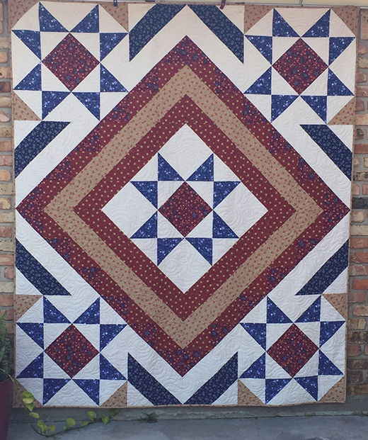 Stars Over Scott Quilt Free Tutorial designed by Jamie Janow Elfert of Baby Boomer Quilting Bee