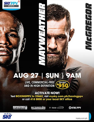 Watch It Live in Philippines! McGregor vs Mayweather on August 27, 2017