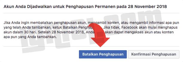 Cara Batalkan Penghapusan Akun Facebook
