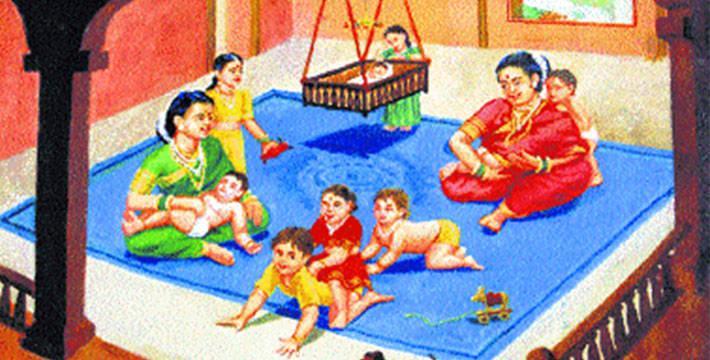 शुक्रवारची - जिवतीची कहाणी - श्रावणातल्या कहाण्या | Shukravarchi Jivatichi Kahani - Shravanatalya Kahanya
