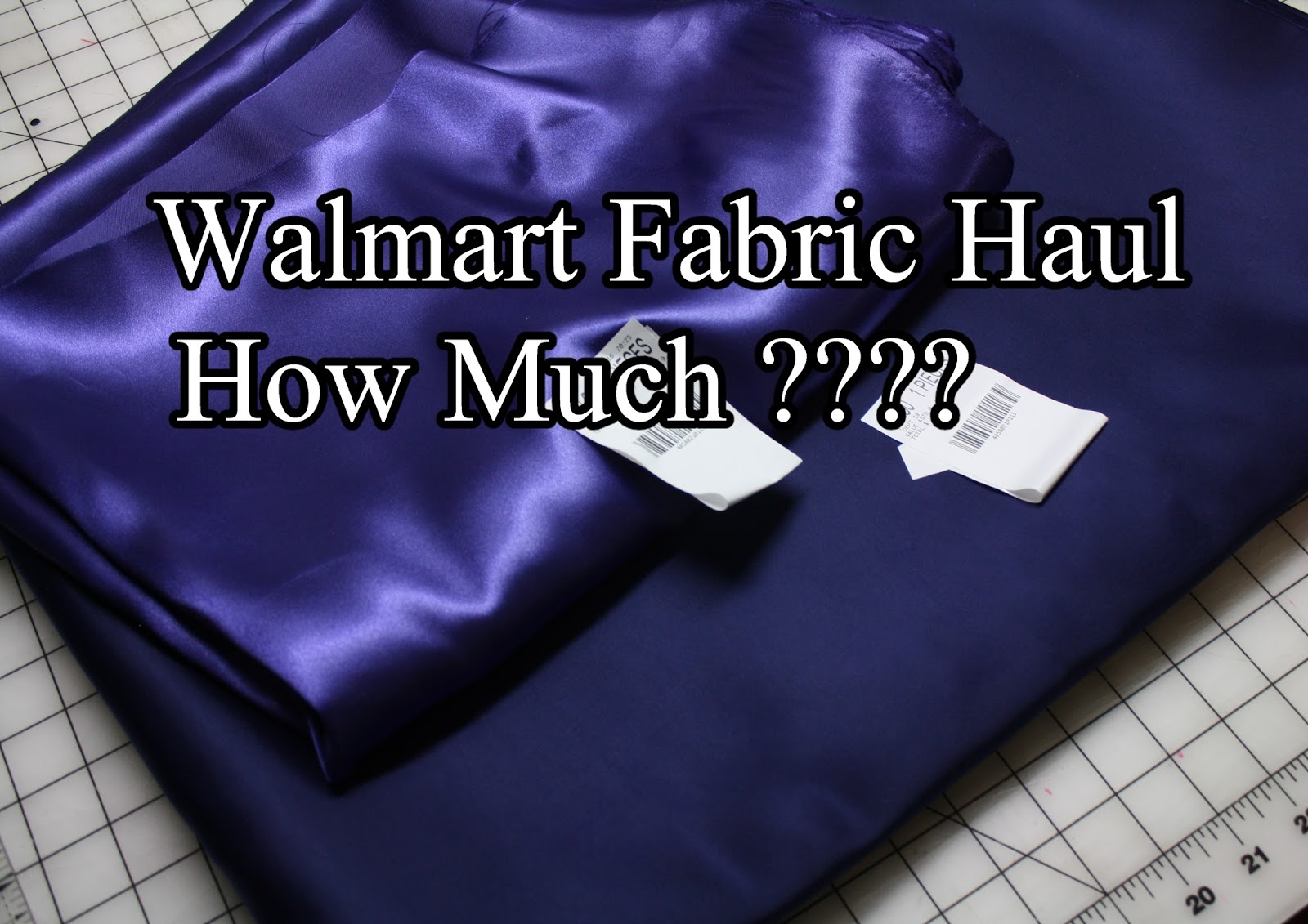 Walmart Fabric Haul - How Much ??   Christopher Nejman